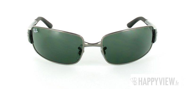 Lunettes de soleil Ray-Ban Ray-Ban RB3421 gris/vert - vue de face