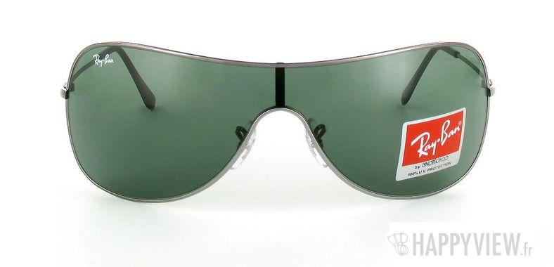 Lunettes de soleil Ray-Ban Ray-Ban RB3211 gris/vert - vue de face
