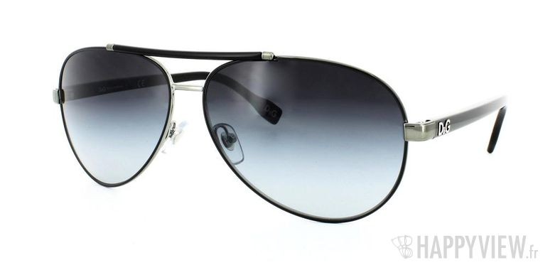 Lunettes de soleil Dolce & Gabbana Dolce&Gabbana 6078 noir - vue de 3/4