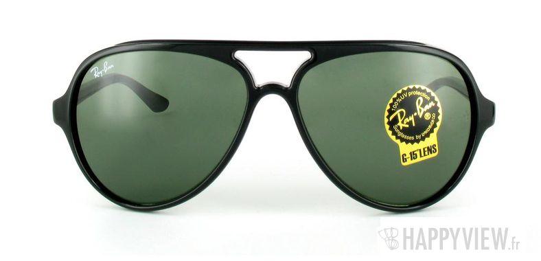 Lunettes de soleil Ray-Ban Ray-Ban Cats 5000 RB4125 noir/vert - vue de face