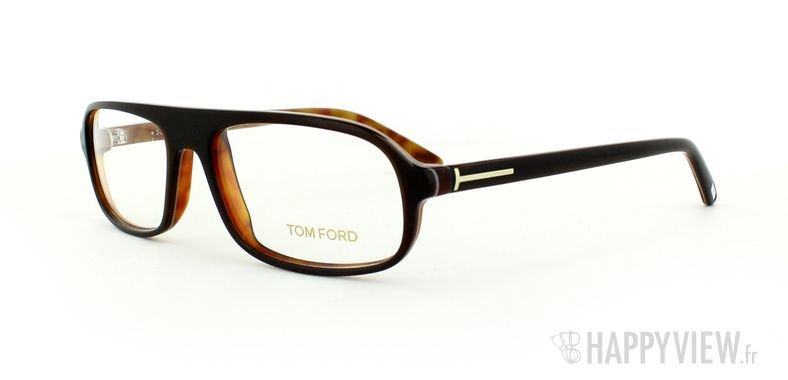 Lunettes de vue Tom Ford Tom Ford 5165 Small marron/écaille - vue de 3/4