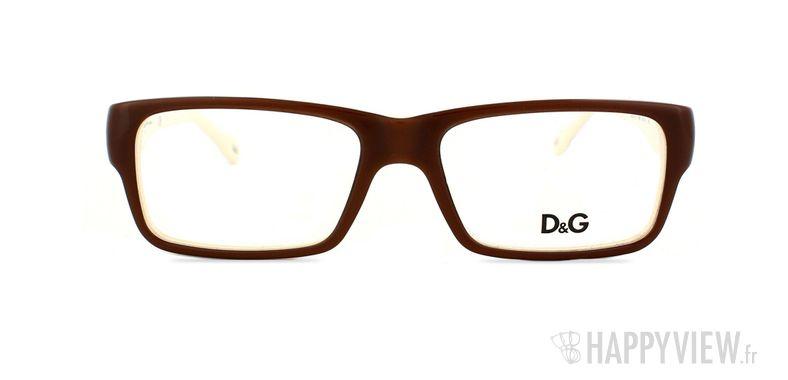 Lunettes de vue Dolce & Gabbana D&G 1210  marron/marron - vue de face