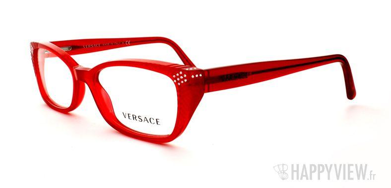 Lunettes de vue Versace VERSACE 3150B rouge - vue de 3/4