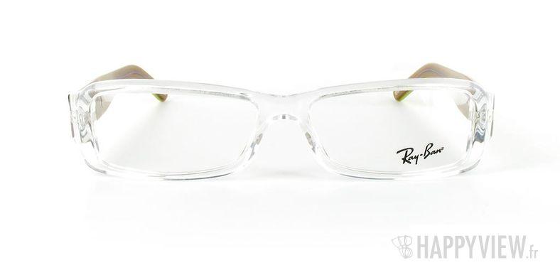 Lunettes de vue Ray-Ban Ray-Ban RX5185 blanc/vert - vue de face