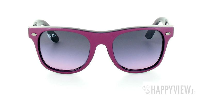 Lunettes de soleil Ray-Ban Ray-Ban Junior Wayfarer rose/bleu - vue de face
