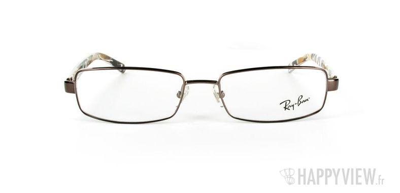 Lunettes de vue Ray-Ban Ray-Ban RX6092 marron/écaille - vue de face