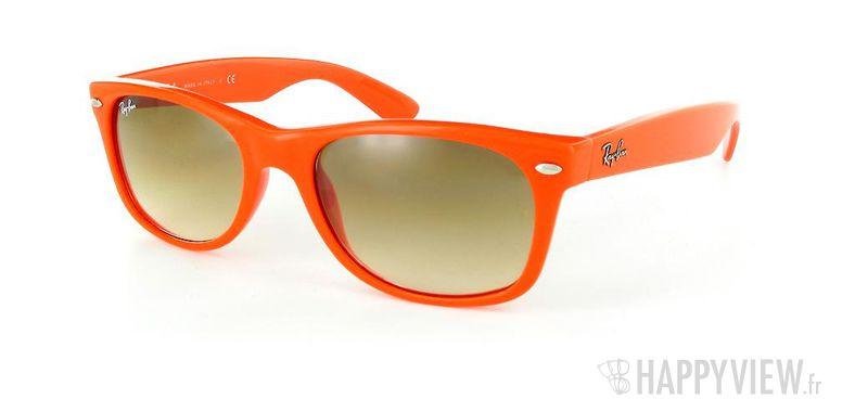 Lunettes de soleil Ray-Ban Ray-Ban New Wayfarer orange - vue de 3/4