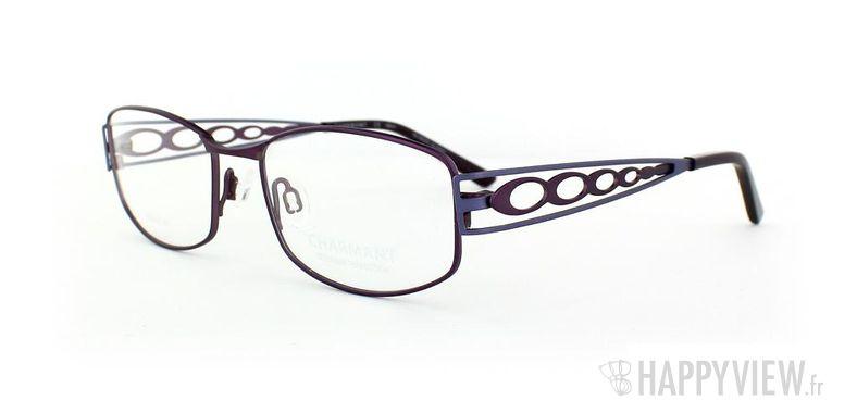 Lunettes de vue Charmant Charmant 10895 Titane bleu/bleu - vue de 3/4