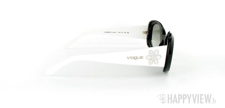 Lunettes de soleil Vogue Vogue 2562S blanc/noir - vue de côté