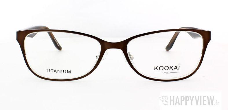 Lunettes de vue Kookaï Kookai 204 Titane marron - vue de face