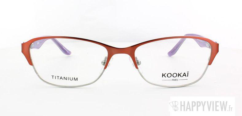Lunettes de vue Kookaï Kookai 205 Titane rose/marron - vue de face