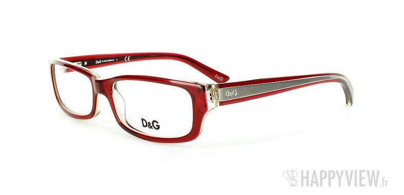 Lunettes de vue Dolce & Gabbana D&G 1167 rouge - vue de 3/4