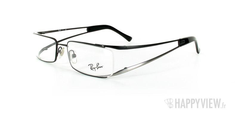 Lunettes de vue Ray-Ban Ray-Ban RX6108 gris/noir - vue de 3/4