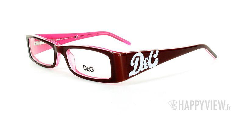 Lunettes de vue Dolce & Gabbana D&G 1127 rouge/rose - vue de 3/4