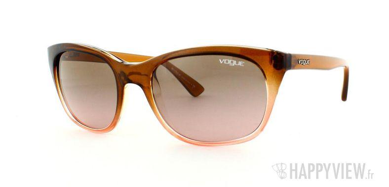 Lunettes de soleil Vogue Vogue 2743S marron/rose - vue de 3/4