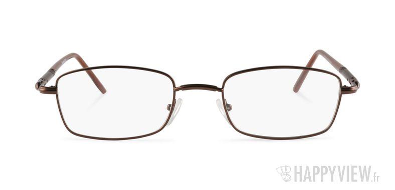 Lunettes de vue Happyview Marmande marron - vue de face