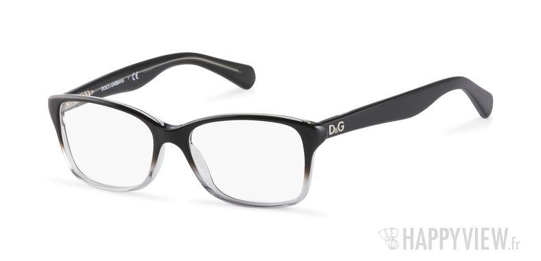 Lunettes de vue Dolce & Gabbana DD 1246 noir - vue de 3/4