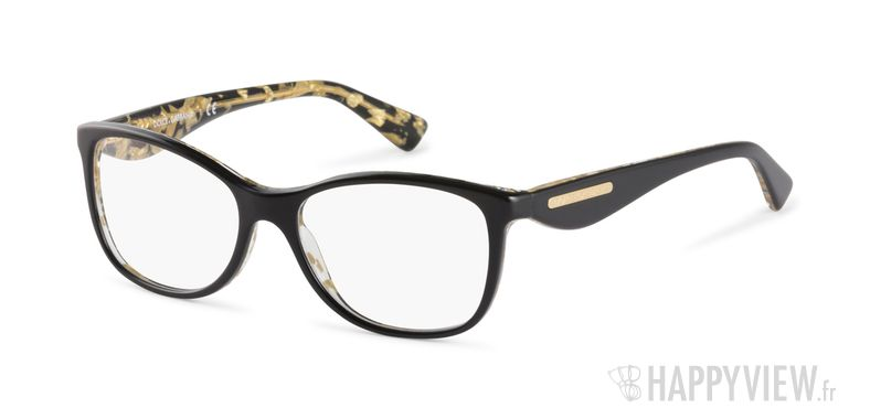Lunettes de vue Dolce & Gabbana DG 3174 noir/doré - vue de 3/4
