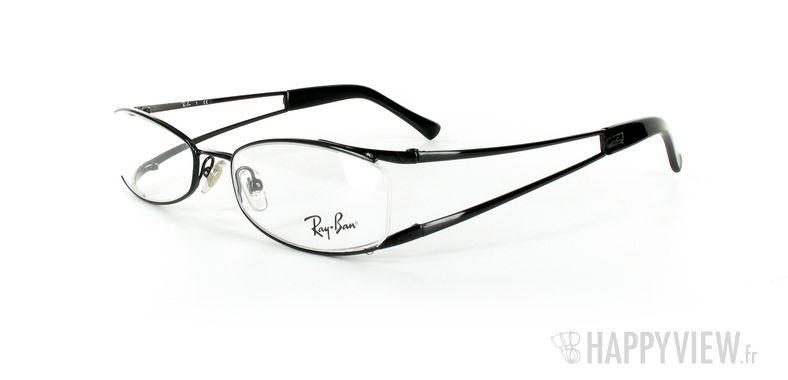 Lunettes de vue Ray-Ban Ray-Ban RX6091 noir - vue de 3/4