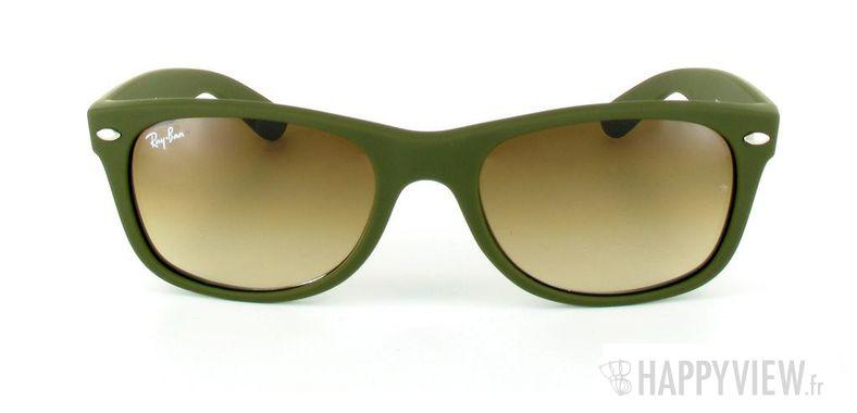 Lunettes de soleil Ray-Ban Ray-Ban New Wayfarer vert - vue de face