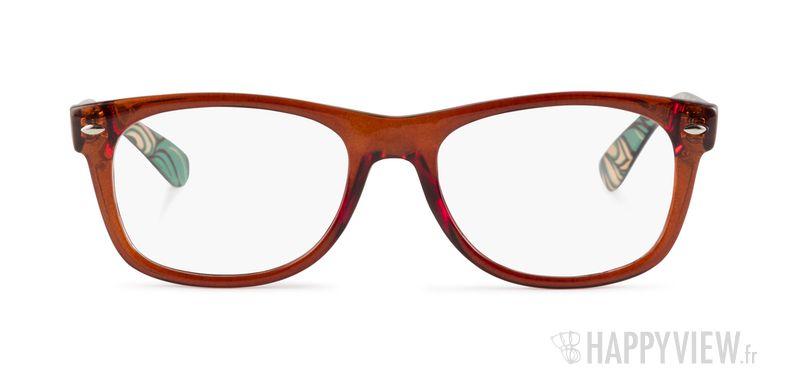 Lunettes de vue Happyview Dinan marron - vue de face