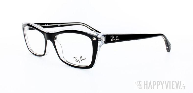 Lunettes de vue Ray-Ban Ray-Ban RX5255 noir/gris - vue de 3/4