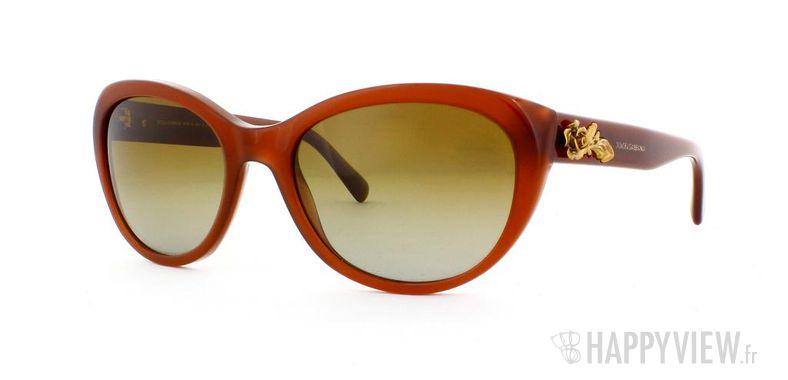 Lunettes de soleil Dolce & Gabbana DG 4160 marron - vue de 3/4