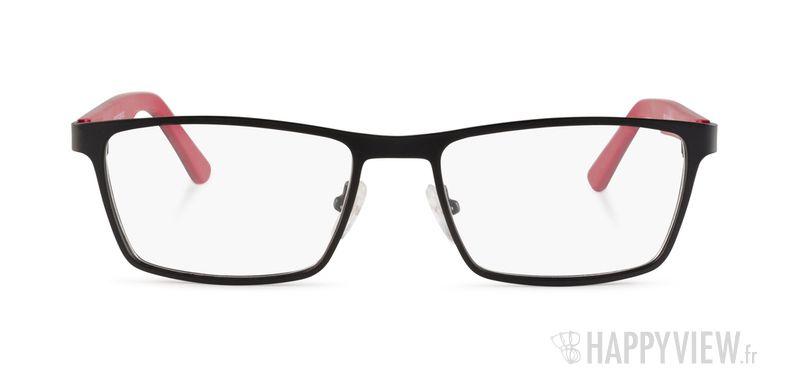 Lunettes de vue Happyview Chambery noir/rouge - vue de face