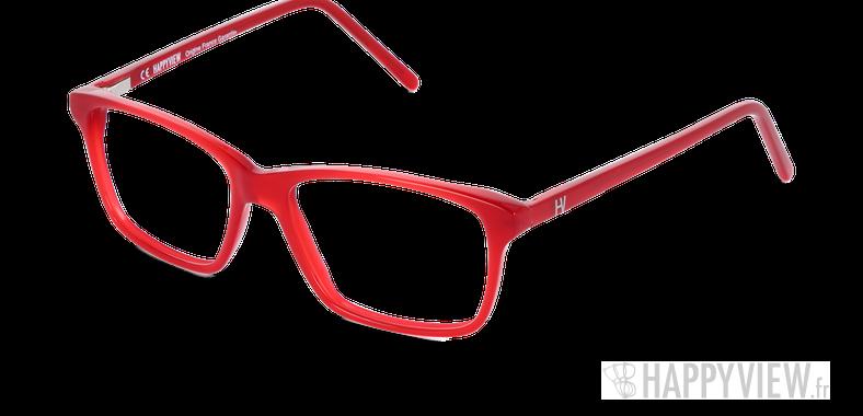 Lunettes de vue Happyview CAMILLE rouge Fabriquées en France - vue de 3/4