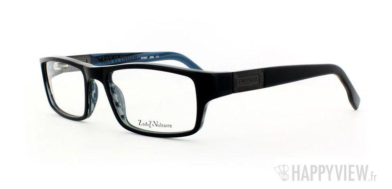 Lunettes de vue Zadig&Voltaire Zadig&Voltaire 3007 noir/bleu - vue de 3/4