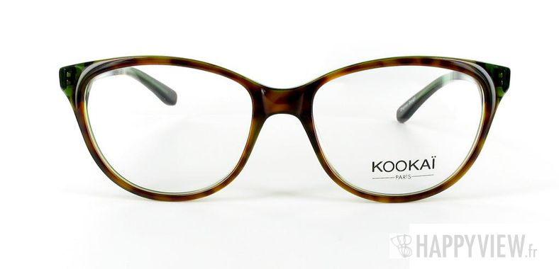 Lunettes de vue Kookaï Kookai 101 écaille/vert - vue de face