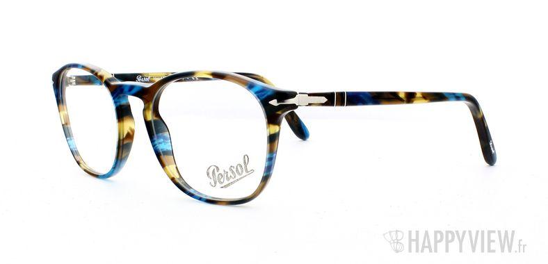 Lunettes de vue Persol Persol 3007V écaille/bleu - vue de 3/4