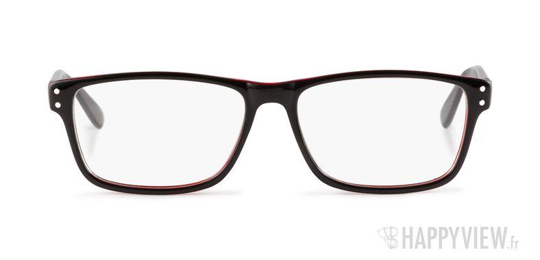 Lunettes de vue Happyview Chelles noir/rouge - vue de face