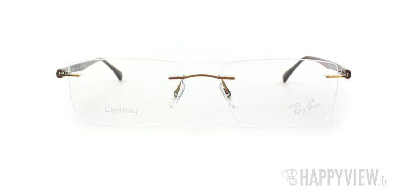 Lunettes de vue Ray-Ban Ray-Ban RX8694 Titane marron - vue de face