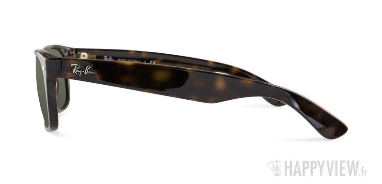 Lunettes de soleil Ray-Ban RB 2132 New Wayfarer écaille/vert - vue de côté