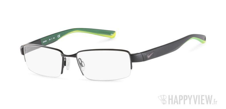 Lunettes de vue Nike 8165 noir/vert - vue de 3/4