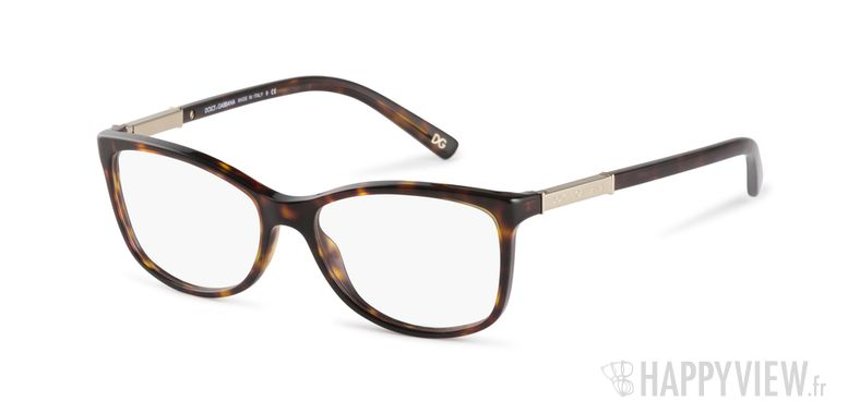 Lunettes de vue Dolce & Gabbana DG 3107 écaille/marron - vue de 3/4