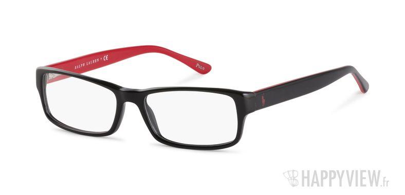 Lunettes de vue Polo Ralph Lauren PH 2065 rouge/noir - vue de 3/4