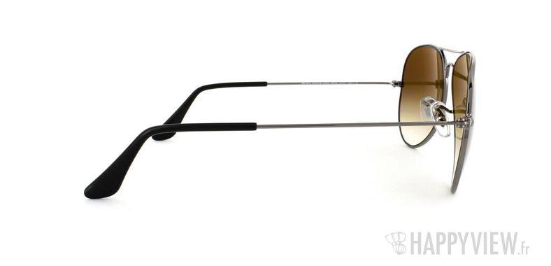 Lunettes de soleil Ray-Ban Ray-Ban Aviator Large gris/marron - vue de côté