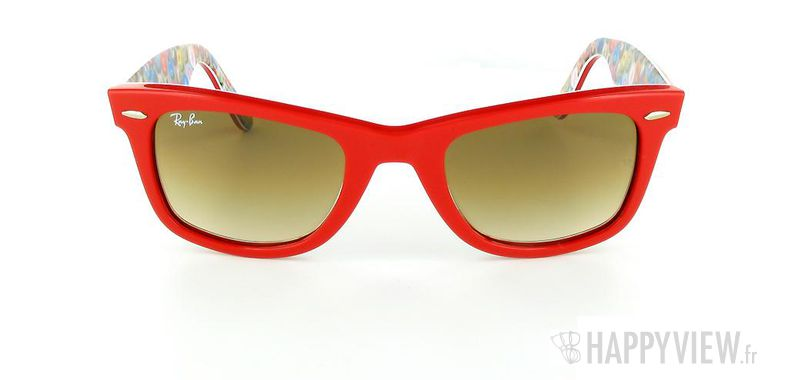 Lunettes de soleil Ray-Ban Ray-Ban Wayfarer Buttons PinsTop rouge/autre - vue de face
