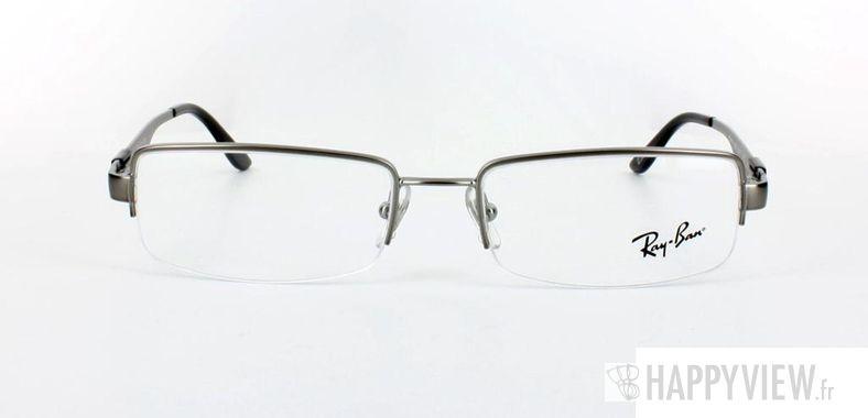 Lunettes de vue Ray-Ban Ray-Ban RX6156 argenté/noir - vue de face