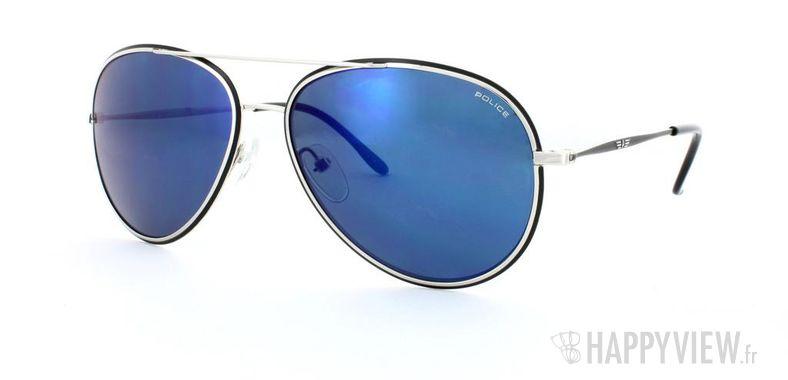 Lunettes de soleil Police Police S8299 argenté/bleu - vue de 3/4