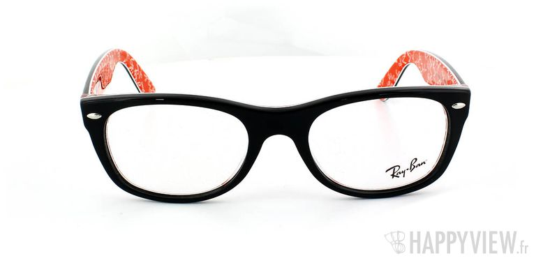 Lunettes de vue Ray-Ban Ray-Ban RX5184 New Wayfarer Small rouge/noir - vue de face