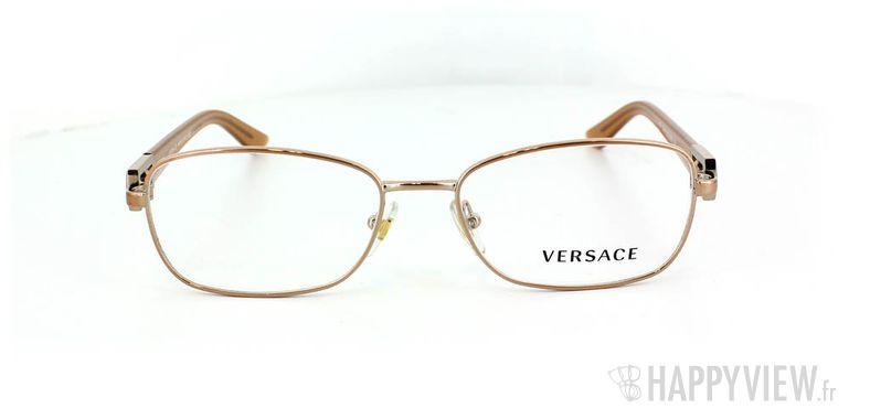 Lunettes de vue Versace Versace 1216B doré - vue de face