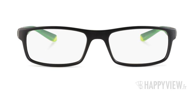 Lunettes de vue Nike 7090 noir/vert - vue de face