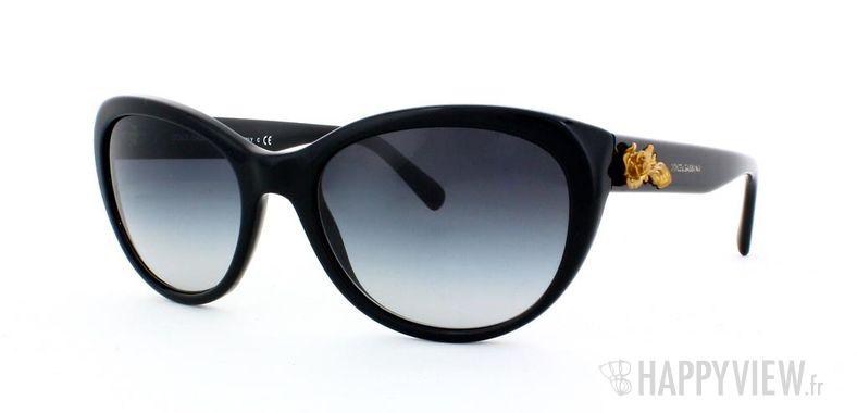 Lunettes de soleil Dolce & Gabbana Dolce & Gabbana 4160 noir - vue de 3/4