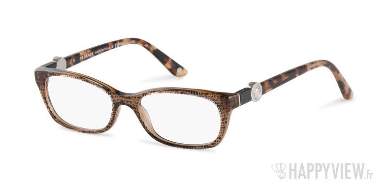 Lunettes de vue Versace VE 3164 marron - vue de 3/4