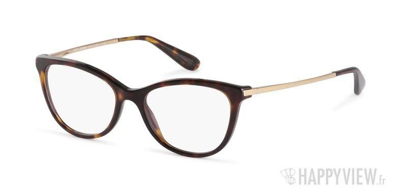 Lunettes de vue Dolce & Gabbana DG 3258 écaille/marron - vue de 3/4