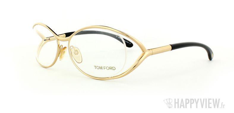 Lunettes de vue Tom Ford Tom Ford 5059 doré/noir - vue de 3/4