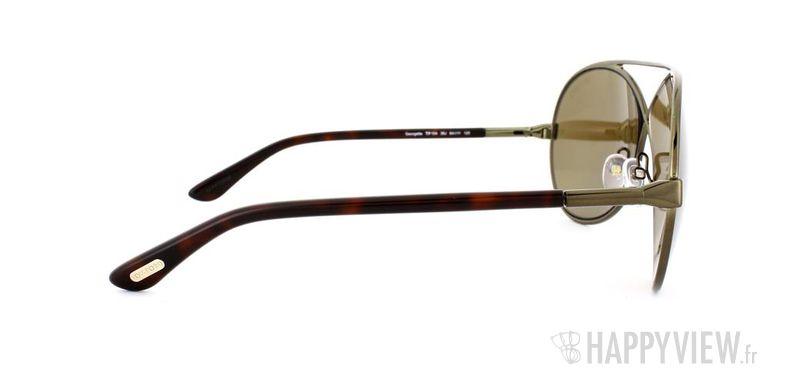 Lunettes de soleil Tom Ford Tom Ford Georgette marron - vue de côté